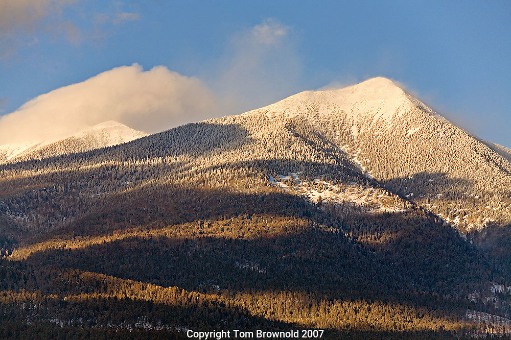 Winter storm clearing over the San Francisco Peaks