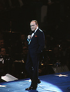 Bob Hope performs during an Inaugral event on  January 18, 1981...Photograph by Dennis Brack bB22