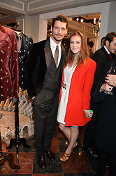 DAVID GANDY and SOPHIE COLERIDGE at the Dolce & Gabbana London Collections: Mens Event 2014 held at Dolce & Gabbana, 53-55 New Bond Street, London on 5th January 2014.