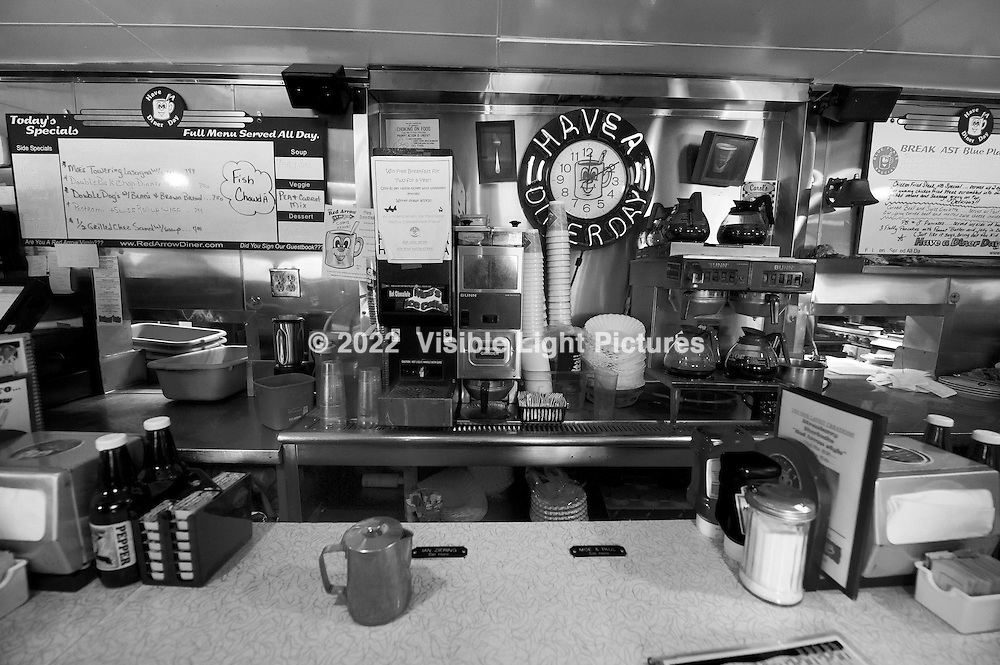 Old style diner counter