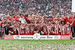 08.05.2010, Olympiastadion Berlin, GER, 1.FBL, Hertha BSCBerlin vs FC Bayern München im Bild Das Meisterfoto EXPA Pictures © 2010, PhotoCredit: EXPA/ nph/  Hammes / SPORTIDA PHOTO AGENCY