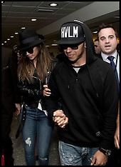 NOV 24 2014 Lewis Hamilton arrives at Heathrow Airport