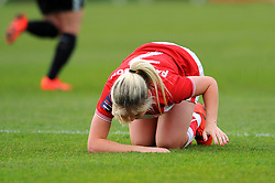 Poppy Pattinson of Bristol City picks up an injury during play - Mandatory by-line: Nizaam Jones/JMP- 31/03/2019 - FOOTBALL - Stoke Gifford Stadium - Bristol, England - Bristol City Women v Reading Women - FA Women's Super League 1