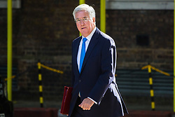 London, July 4th 2017. Defence Secretary Michael Fallon attends the weekly cabinet meeting at 10 Downing Street in London.
