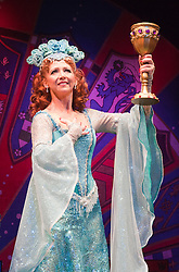 "© Licensed to London News Pictures. 26/07/2012. London, England. Bonnie Langford as ""The Lady of the Lake. Monty Python's ""Spamalot"" musical based on the film ""Monty Python and the Holy Grail"" opens at the Harold Pinter Theatre in London. The role of King Arthur is shared between Jon Culshaw and Marcus Brigstocke. Photo credit: Bettina Strenske/LNP"