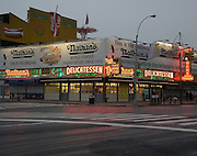 The originsl Nathans Famous in Coney Island.