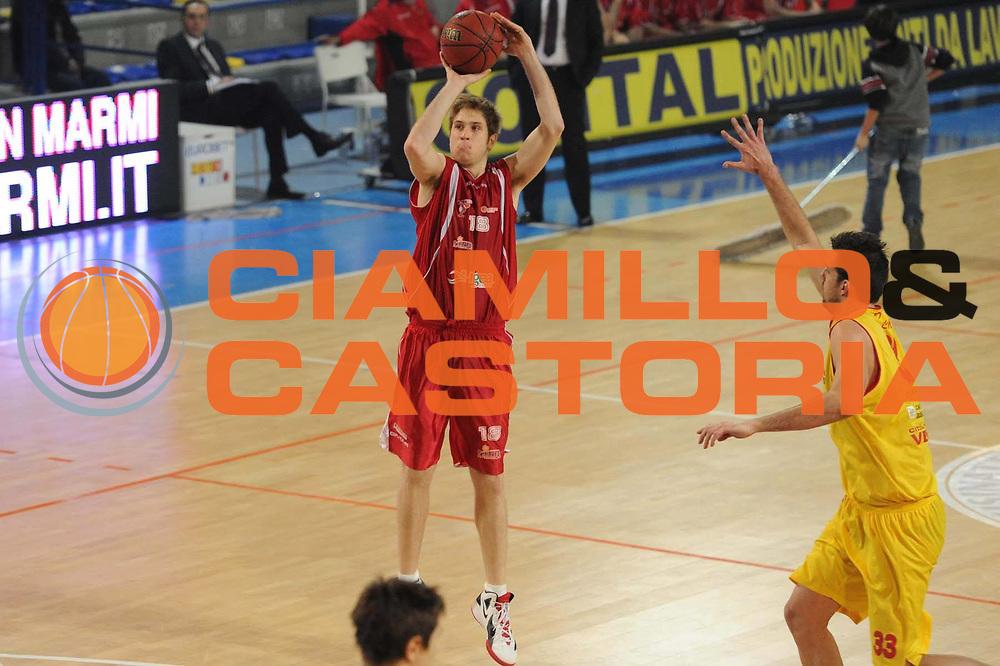 DESCRIZIONE : Frosinone Lega Basket A2 2011-12  Prima Veroli ASS. Pall. S.Antimo<br /> GIOCATORE :Giacomo Eliantonio<br /> CATEGORIA : tiro<br /> SQUADRA : ASS.Pall S.Antimo<br /> EVENTO : Campionato Lega A2 2011-2012 <br /> GARA : Prima Veroli ASS. Pall. S.Antimo <br /> DATA : 13/01/2012<br /> SPORT : Pallacanestro  <br /> AUTORE : Agenzia Ciamillo-Castoria/ GiulioCiamillo<br /> Galleria : Lega Basket A2 2011-2012  <br /> Fotonotizia : Frosinone Lega Basket A2 2011-12 Prima Veroli ASS. Pall. S.Antimo<br /> Predefinita :