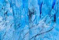 NATIONAL PARK LOS GLACIARES, ARGENTINA - CIRCA FEBRUARY 2019: Close up of the Glacier Perito Moreno, a famous landmark within the Los Glaciares National Park in Argentina