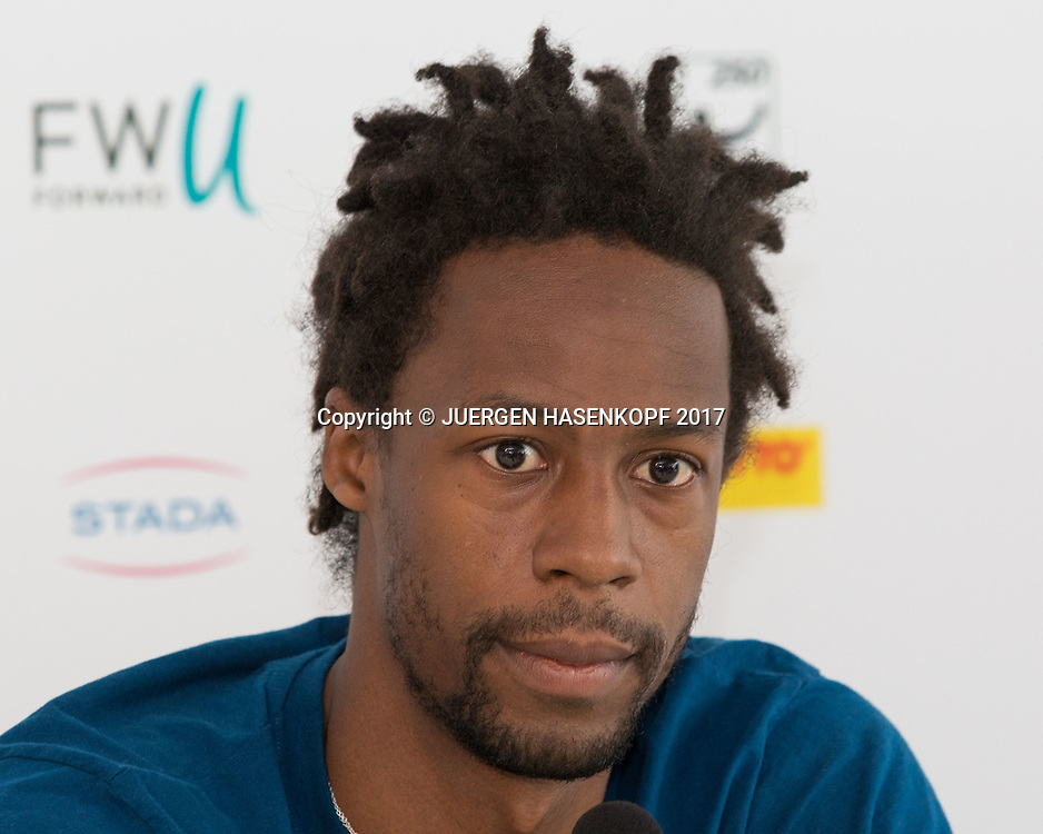 GAEL MONFILS (FRA), Pressekonferenz<br /> <br /> Tennis - BMW Open2017 -  ATP  -  MTTC Iphitos - Munich -  - Germany  - 3 May 2017.