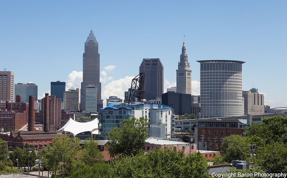 Cleveland Ohio skyline looking east