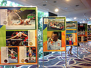 Warsaw, Poland - 2016 October 12: Photo Exhibition by photographers Adam Nurkiewicz and Adrian Stykowski from 2016 Summer Paralympic Games during Press Conference Project Olympian at Mercure Hotel on October 12, 2016 in Warsaw, Poland.<br /> <br /> Adam Nurkiewicz declares that he has no rights to the image of people at the photographs of his authorship.<br /> <br /> Picture also available in RAW (NEF) or TIFF format on special request.<br /> <br /> Any editorial, commercial or promotional use requires written permission from the author of image.<br /> <br /> Mandatory credit:<br /> Photo by © Adam Nurkiewicz / Mediasport