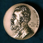 Julius Ferdinand Hann, c1921. Hann (1839-1921), Austrian meteorologist, from a commemorative medal issued by the Austrian Meteorological Society.