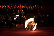 Matunai Vaiaogo, Jr., Polynesian Fire Dancer performing with Cirque Des Voix, 2017 Smithsonian Folklife Festival, Washington, D.C.