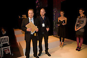 STEPHEN MONGAN; JEVGENI PANTELEJEV; LAURA BAILEY, FashionExpo, fashion show and Awards. Business Design Centre, Upper st. London. 19 November 2008.  *** Local Caption *** -DO NOT ARCHIVE -Copyright Photograph by Dafydd Jones. 248 Clapham Rd. London SW9 0PZ. Tel 0207 820 0771. www.dafjones.com