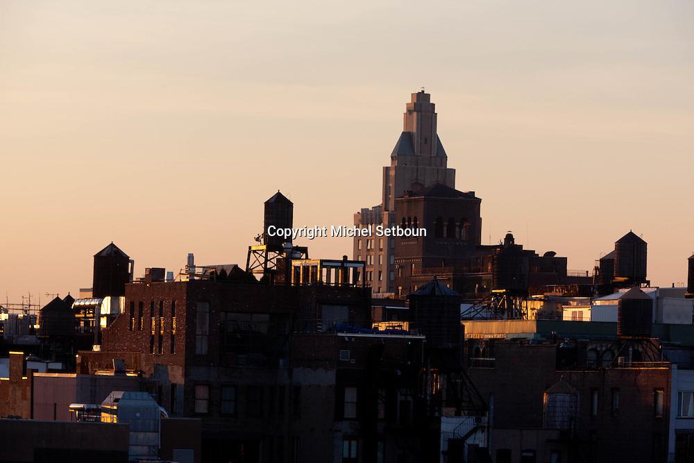 Soho , and lower manhattan skyline New York - United states / le panorama de Soho et du bas de Manhattan downtown - New York - Etats-unis  /