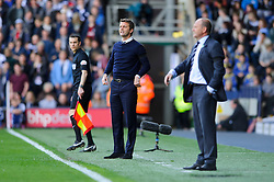 Manager Tim Sherwood (ENG) of Tottenham Hotspur gestures an Manager Pepe Mel (ESP) of West Brom looks on - Photo mandatory by-line: Rogan Thomson/JMP - 07966 386802 - 12/04/2014 - SPORT - FOOTBALL - The Hawthorns Stadium - West Bromwich Albion v Tottenham Hotspur - Barclays Premier League.