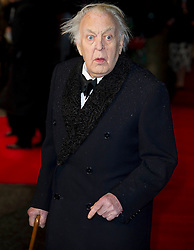 Sir Donald Sinden arrives for the Run For Your Wife - UK film premiere Odeon -Leicester Sq- London Brit comedy about a happily married man - with two wives, Tuesday  February 5, 2013. Photo: Andrew Parsons / i-Images