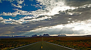 Highway 163 heading into Monument Valley on the Navajo Indian Reservation.