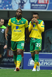Norwich Natahn Redmond celebrates after scoring Norwich second Goal, Middlesbrough v Norwich, Sky Bet Championship, Play Off Final, Wembley Stadium, Monday  25th May 2015