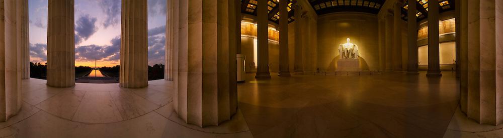 Lincoln Memorial panorama