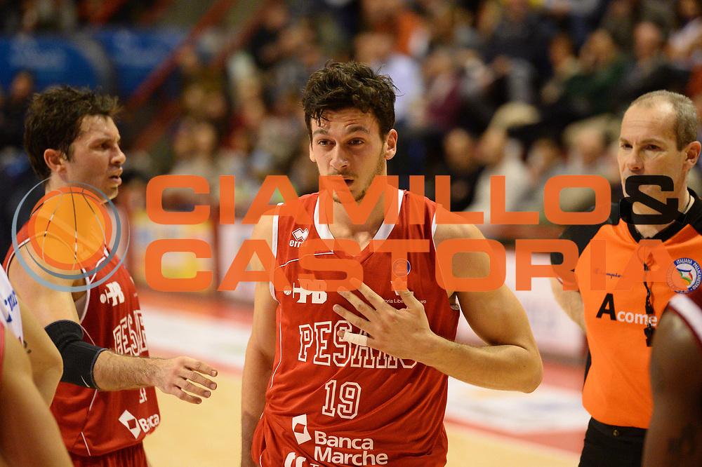 DESCRIZIONE : Pistoia Lega serie A 2013/14  Giorgio Tesi Group Pistoia Pesaro<br /> GIOCATORE : Amici Alessandro<br /> CATEGORIA : fallo  curiosit&agrave;<br /> SQUADRA : Pesaro Basket<br /> EVENTO : Campionato Lega Serie A 2013-2014<br /> GARA : Giorgio Tesi Group Pistoia Pesaro Basket<br /> DATA : 24/11/2013<br /> SPORT : Pallacanestro<br /> AUTORE : Agenzia Ciamillo-Castoria/M.Greco<br /> Galleria : Lega Seria A 2013-2014<br /> Fotonotizia : Pistoia  Lega serie A 2013/14 Giorgio  Tesi Group Pistoia Pesaro Basket<br /> Predefinita :