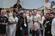 The players after the Specsavers County Champ Div 2 match between Sussex County Cricket Club and Nottinghamshire County Cricket Club at the 1st Central County Ground, Hove, United Kingdom on 28 September 2017. Photo by Simon Trafford.