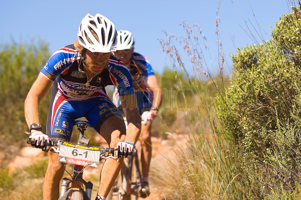 WESTERN CAPE, SOUTH AFRICA -  30 March 2008, Fredrik Kessiakoff, a swiss rider from Sweden of Team Full Dynamix during stage two of the 2008 Absa Cape Epic Mountain Bike stage race from Saasveld Campus Nelson Mandela Metropolitan University in George to Calitzdorp Spa, Calitzdorp in the Western Cape, South Africa..Photo by Sven Martin/SPORTZPICS