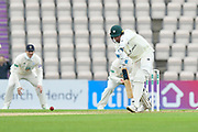 Josh Tongue of Worcestershire batting during the Specsavers County Champ Div 1 match between Hampshire County Cricket Club and Worcestershire County Cricket Club at the Ageas Bowl, Southampton, United Kingdom on 13 April 2018. Picture by Graham Hunt.