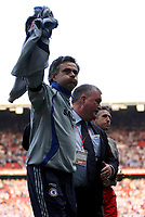 Photo: Paul Thomas.<br /> Blackburn Rovers v Chelsea. The FA Cup, Semi Final. 15/04/2007.<br /> <br /> Jose Mourinho, manager of Chelsea, breaths a sigh of relief as he leaves the field.
