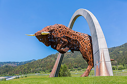 22.05.2016, Red Bull Ring, Spielberg, AUT, Red Bull Ring, im Bild das Wahrzeichen des Red Bull Rings, der Stier von Spielberg // the landmark of the the Red Bull Ring, the bull of Spielberg in Spielberg, Austria, 2016/05/22, EXPA Pictures © 2016, PhotoCredit: EXPA/ Dominik Angerer
