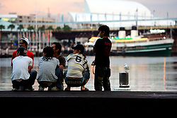 AUSTRALIA NEW SOUTH WALES SYDNEY 26FEB08 - Asian teenagers hang out at Sydney Harbour, a famous location near the business district in Sydney, Australia..jre/Photo by Jiri Rezac..© Jiri Rezac 2008..Contact: +44 (0) 7050 110 417.Mobile:  +44 (0) 7801 337 683.Office:  +44 (0) 20 8968 9635..Email:   jiri@jirirezac.com..Web:    www.jirirezac.com..© All images Jiri Rezac 2008 - All rights reserved.