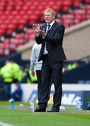 Falkirk manager Gary Holt during extra time..Hibernian 4 v 3 Falkirk, William Hill Scottish Cup Semi Final, Hampden Park..©Michael Schofield..