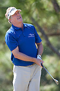 November 14, 2010: Michael Allen reacts to his tee shot on the par 3 third of the Magnolia course during third round golf action from The Children's Miracle Network Hospitals Classic held at The Disney Golf Resort in Lake Buena Vista, FL.