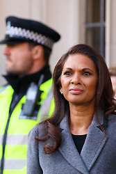 © Licensed to London News Pictures. 05/12/2016. London, UK. GINA MILLER arrives at the Supreme Court  in Westminster, London for first day of a  Supreme Court hearing to appeal against a November 3 High Court ruling that Article 50 cannot be triggered without a vote in Parliament. Photo credit: Ben Cawthra/LNP