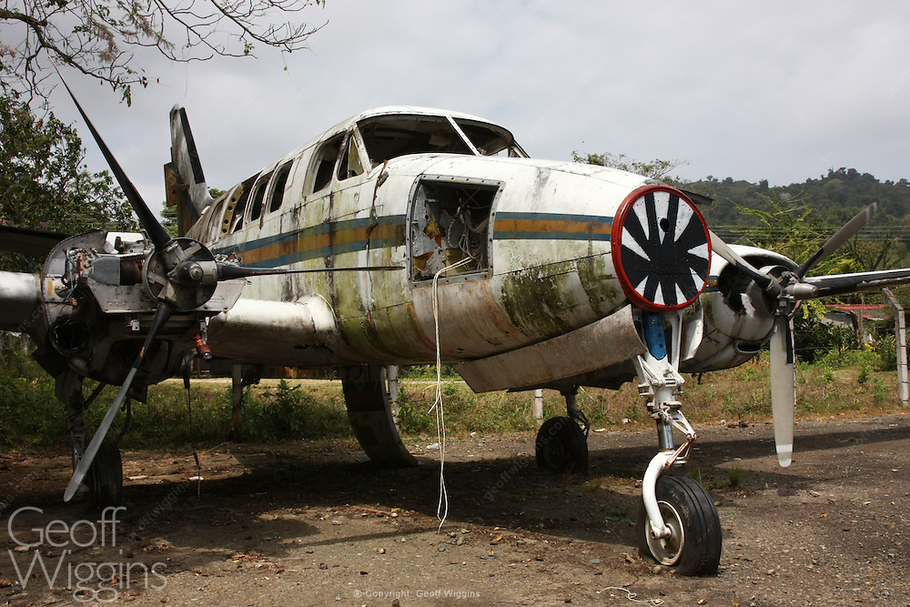 Aircraft in false UN markings loaded with cocaine brought down at jungle airstrip in the Darien Gap, Colombia