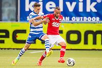 ZWOLLE - 18-09-2016, PEC Zwolle - AZ, MAC3park Stadion, PEC Zwolle speler Ryan Jared Thomas, AZ speler Iliass Bel Hassani