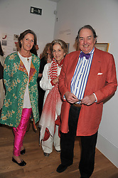 Left to right, LAURA LINDSAY and HUGH & GRANIA CAVENDISH at a private view of work by the late Rory McEwen - The Colours of Reality, held at the Shirley Sherwood Gallery, Kew Gardens, London on 20th May 2013.