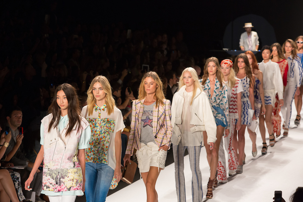 The finale of Rebecca Minkoff's Spring 2003 show at Mercedes Benz Fashion Week.