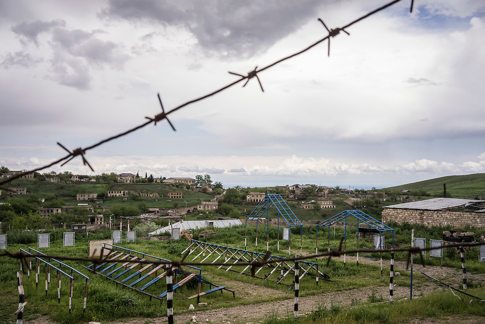 A view of the village on Sunday, May 8, 2016 in Talish, Nagorno-Karabakh. Due to intense nearby fighting in early April, the entire village has been evacuated of civilians.