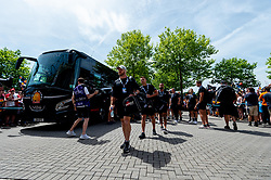 Jack Yeandle of Exeter Chiefs leads the team into Twickenham Stadium prior to kick off - Mandatory by-line: Ryan Hiscott/JMP - 01/06/2019 - RUGBY - Twickenham Stadium - London, England - Exeter Chiefs v Saracens - Gallagher Premiership Rugby Final