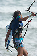 Outerbanks, NC - Bruna Kajiya Kiteboarding at the Triple-S 2011