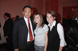 Left to right, former England rugby international player RORY UNDERWOOD and his daughters ALIX and REBECCA at a party hosted by the Mandarin oriental Hyde park Hotel to celebrate the Chinese new year on 19th February 2007.<br />