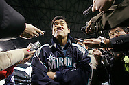 Seattle Mariners newest catcher Kenji Johjima during the Mariners FanFest  in Seattle. (AP Photo/John Froschauer)
