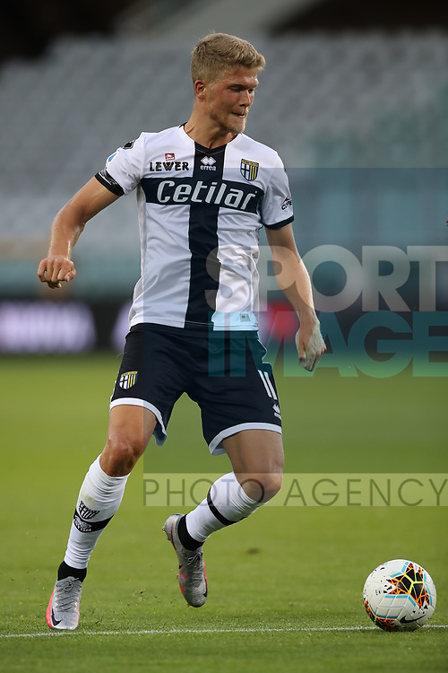 Parma Calcio's Danish striker Andreas Cornelius during the Serie A match at Stadio Grande Torino, Turin. Picture date: 20th June 2020. Picture credit should read: Jonathan Moscrop/Sportimage