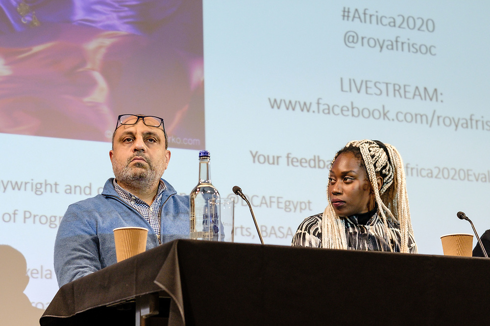Royal African Society's flagship Africa in 2020: Art & Activism with Boitumelo 'Tumy' Motsoatsoe, Makhtar Fall AKA Xumman, Valerie Asiimwe Amani, Ahmed  El Attar and Dr Jenny Mbaye. London, Tue, 28 January 2020. (Photos/Ivan Gonzalez)