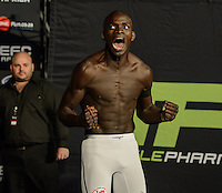 THEMBA CORIMBO during EFC Africa 26 Weigh-in, 11 December  2013, The Dome, Johannesburg.
