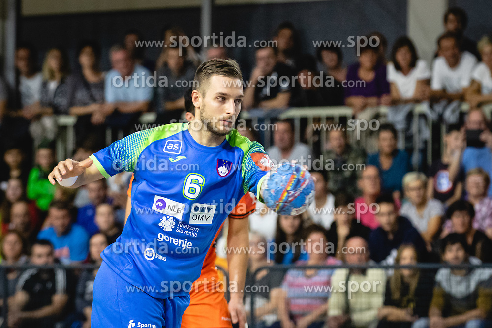 Gašper Marguč of Slovenia during friendly handball match between Slovenia and Nederland, on October 25, 2019 in Športna dvorana Hardek, Ormož, Slovenia. Photo by Blaž Weindorfer / Sportida