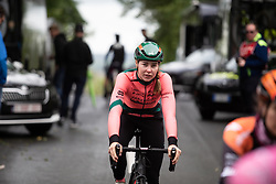 Femke Markus (NED) of Parkhotel Valkenburg Cycling Team rides to the sign-on podium Stage 5 of 2019 OVO Women's Tour, a 140 km road race from Llandrindod Wells to Builth Wells, United Kingdom on June 14, 2019. Photo by Balint Hamvas/velofocus.com