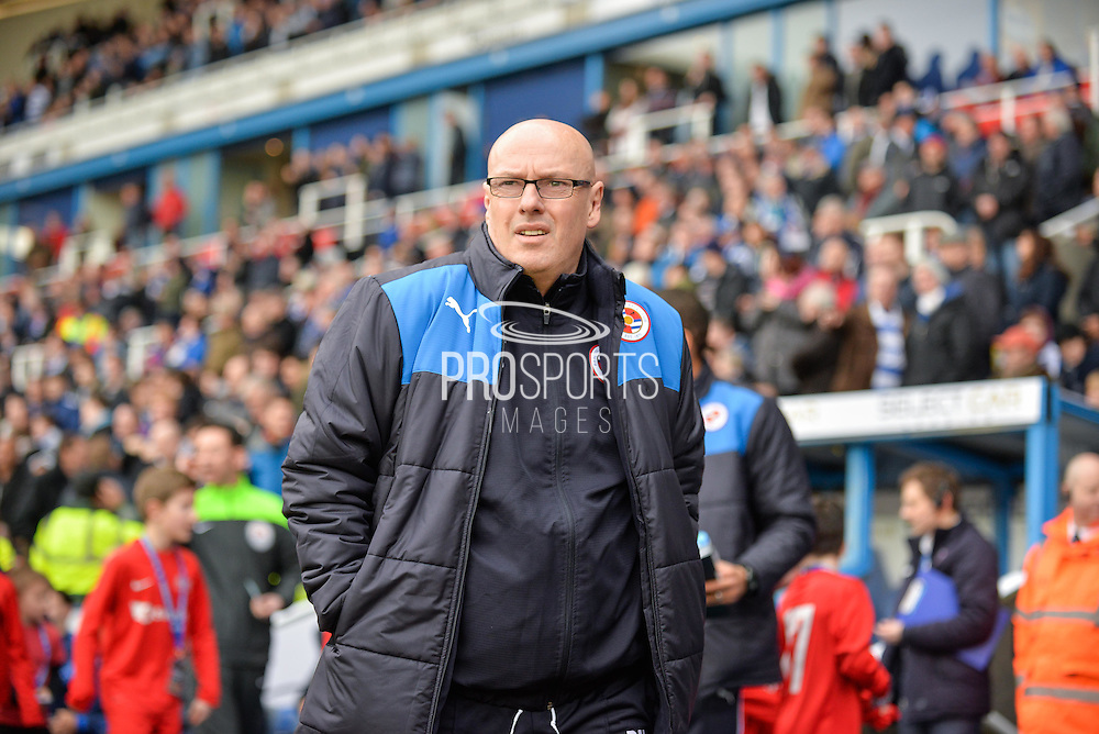 Reading first team manager Brian McDermott during the Sky Bet Championship match between Reading and Sheffield Wednesday at the Madejski Stadium, Reading, England on 23 January 2016. Photo by Adam Rivers.