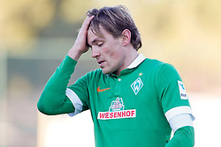 09.01.2015, Hotel Regnun Carya, Belek, TUR, FS Vorbereitung, Fussball Testspiel, SV Werder Bremen vs FC Energie Cottbus, im Bild Kapitaen Clemens Fritz (SV Werder Bremen #8) fasst sich an den Kopf // during a international football frindly match between SV Werder Bremen vs FC Energie Cottbus at the Hotel Regnun Carya in Belek, Turkey on 2015/01/09. EXPA Pictures © 2015, PhotoCredit: EXPA/ Eibner-Pressefoto/ Schueler<br /> <br /> *****ATTENTION - OUT of GER*****
